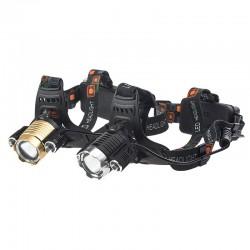 Luz frontal recargable 3 LED ajustables
